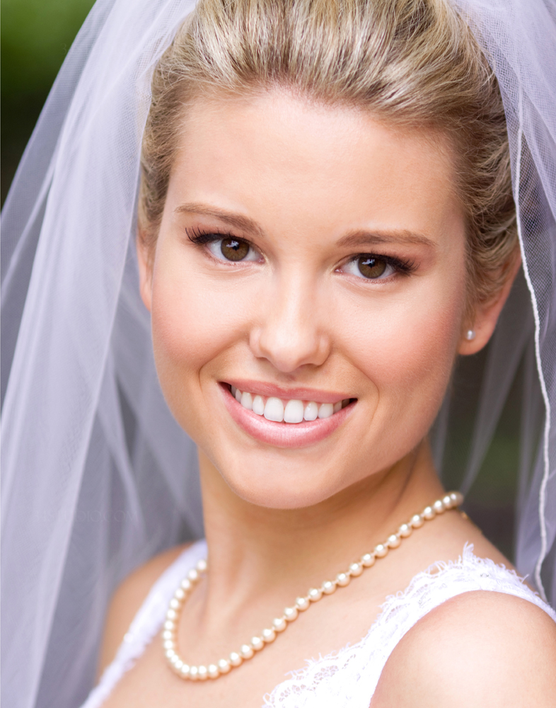 blonde bride headshot close up bridal portrait